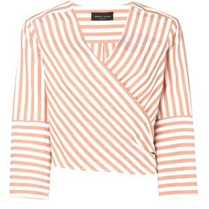 Stunning Striped Wrap Top Size 2